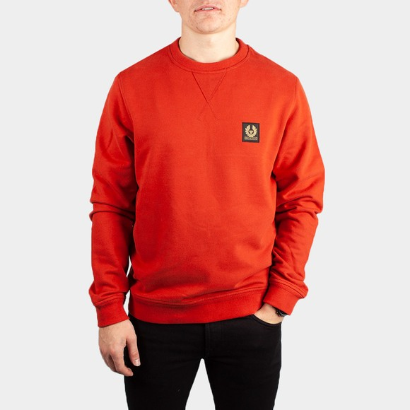 Belstaff Mens Red Chest Logo Sweatshirt