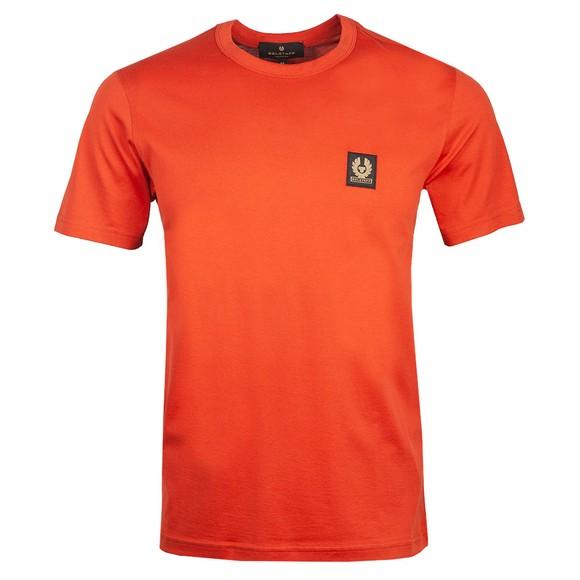 Belstaff Mens Red Patch Logo T Shirt