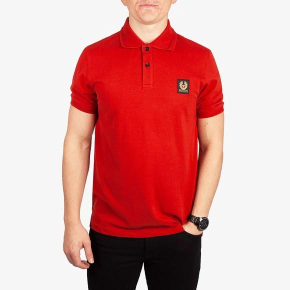 Belstaff Mens Red Short Sleeve Polo Shirt