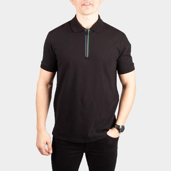 PS Paul Smith Mens Black Zip Polo Shirt