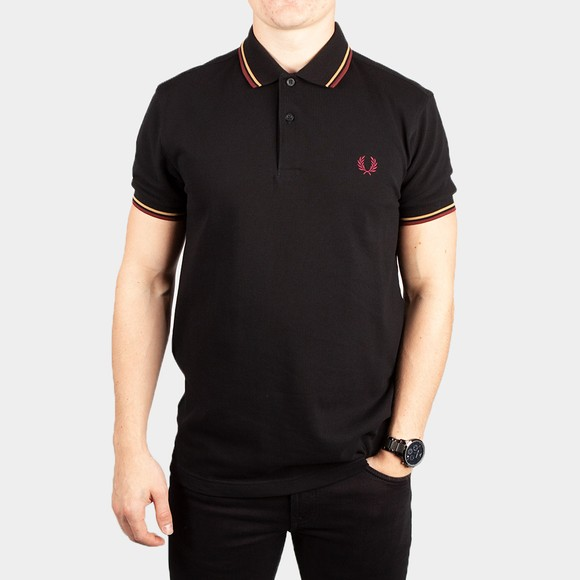Fred Perry Mens Black Twin Tipped Polo Shirt