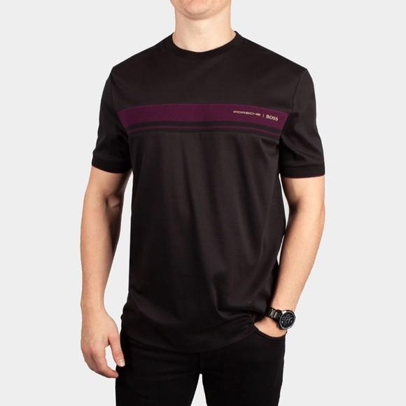 BOSS Mens Black x Porsche Tiburt 290 T-Shirt