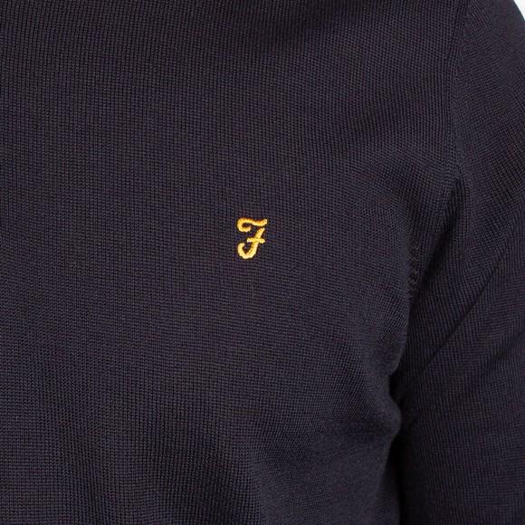 Farah Mens Blue Redchurch 1/4 Zip Jumper main image