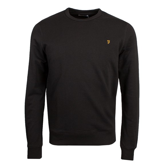 Farah Mens Black Tim Crew Sweatshirt