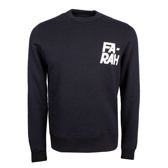 Farah Mens Blue Gleason Crew Sweatshirt