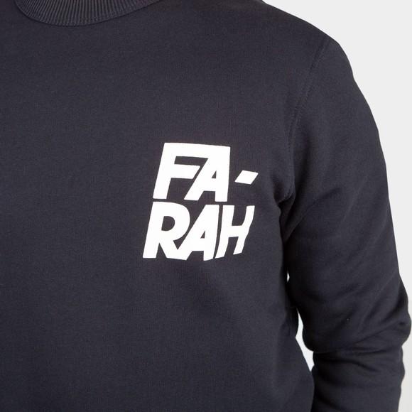 Farah Mens Blue Gleason Crew Sweatshirt main image