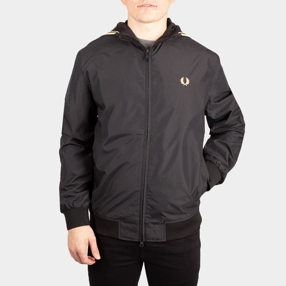 Fred Perry Mens Black Hooded Brentham Jacket