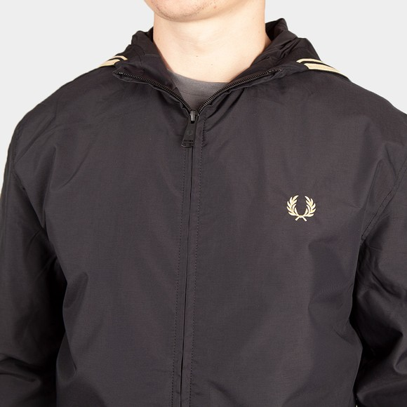 Fred Perry Mens Black Hooded Brentham Jacket main image