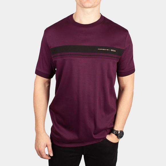 BOSS Mens Purple x Porsche Tiburt 290 T-Shirt