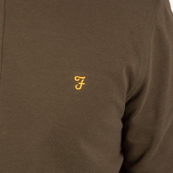Farah Mens Green Ricky LS Polo main image