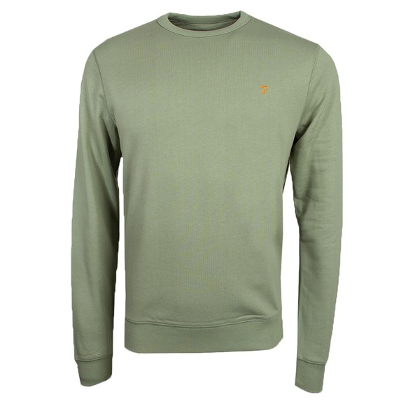Farah Mens Green Tim Crew Sweatshirt
