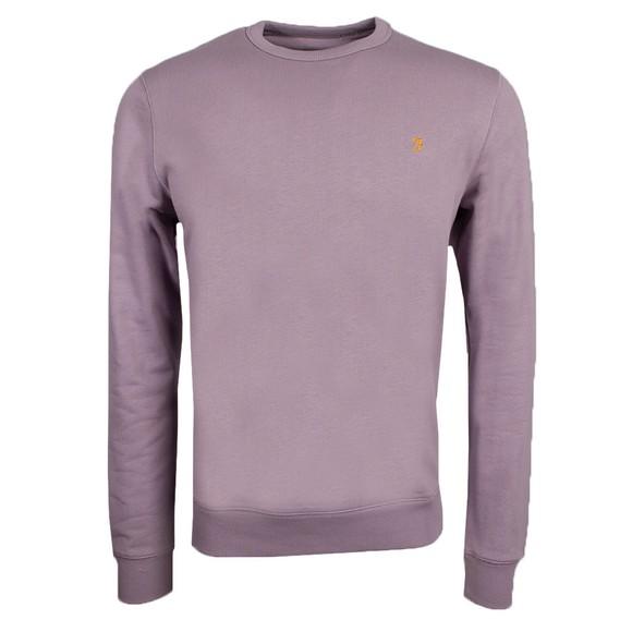 Farah Mens Purple Tim Crew Sweatshirt