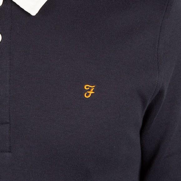 Farah Mens Blue Bartow Rugby Shirt main image