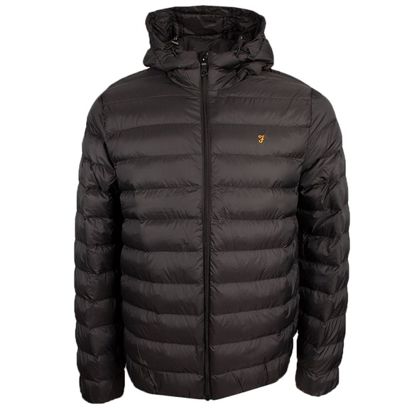 Farah Mens Black Strickland Wadded Coat