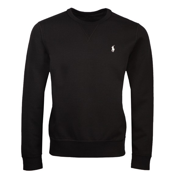 Polo Ralph Lauren Mens Black Double-Knit Sweatshirt