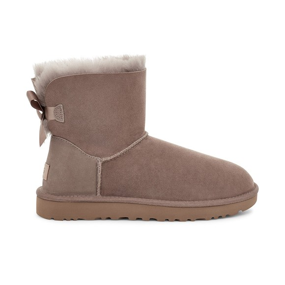 Ugg Womens Brown Mini Bailey Bow II Boot
