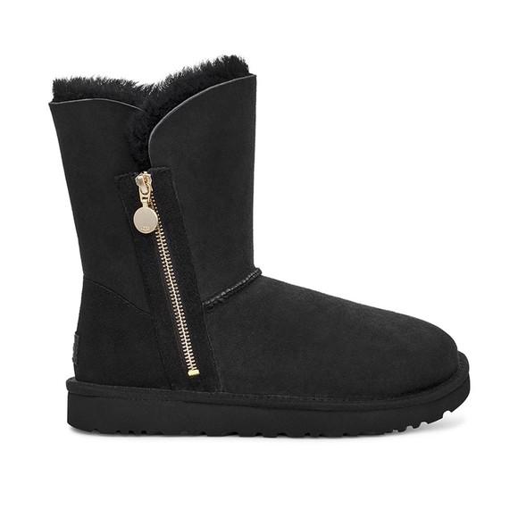 Ugg Womens Black Bailey Zip Short Boot