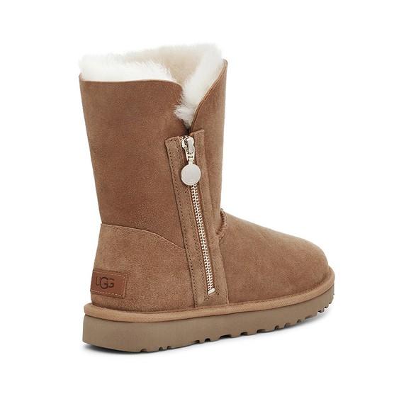 Ugg Womens Brown Bailey Zip Short Boot main image