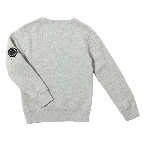 C.P. Company Undersixteen Boys Grey Chest Logo Crew Sweatshirt