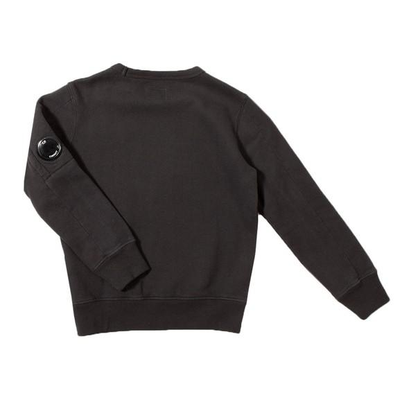 C.P. Company Undersixteen Boys Black Chest Logo Crew Sweatshirt