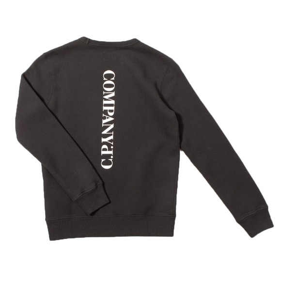 C.P. Company Undersixteen Boys Black Side Logo Crew Sweatshirt