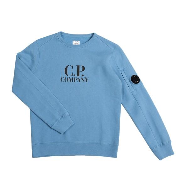 C.P. Company Undersixteen Boys Blue Chest Logo Crew Sweatshirt main image