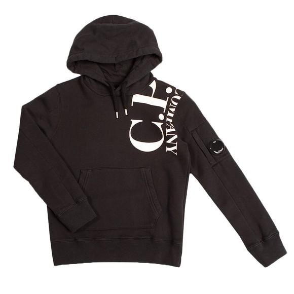 C.P. Company Undersixteen Boys Black Side Logo Overhead Hoody