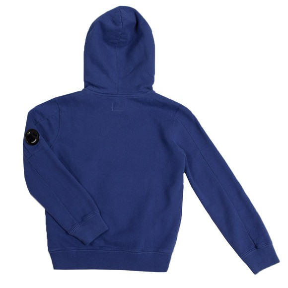 C.P. Company Undersixteen Boys Blue Fleece Overhead Viewfinder Sleeve Hoody
