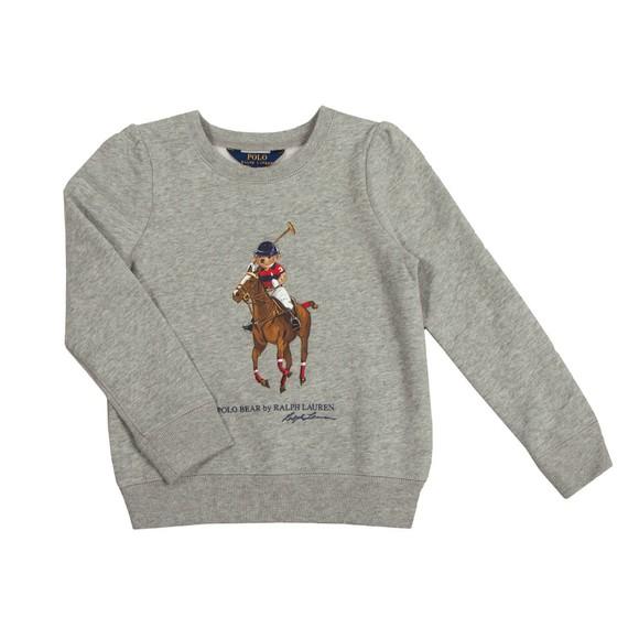 Polo Bear By Ralph Lauren Boys Grey Polo Bear Sweatshirt