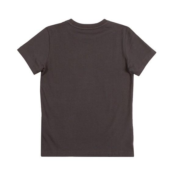 Moschino Boys Black Embroidered Logo T Shirt