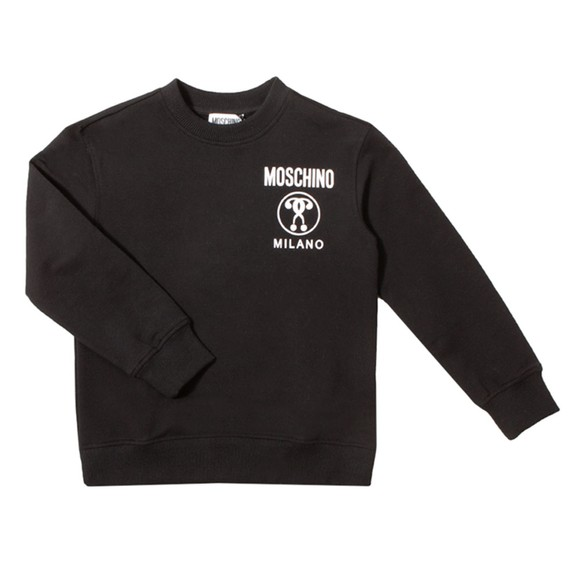 Moschino Boys Black Milano Logo Sweatshirt main image