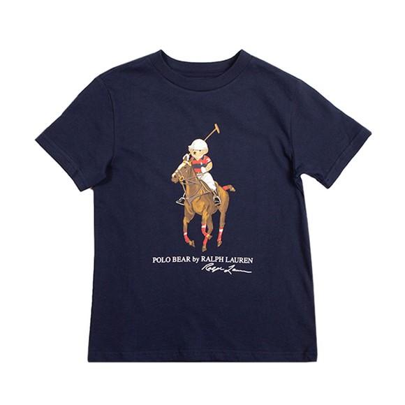 Polo Bear By Ralph Lauren Boys Blue Polo Bear T-Shirt