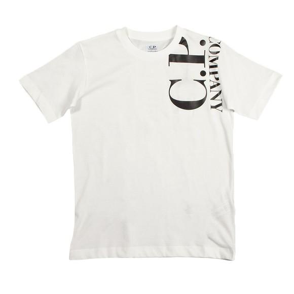 C.P. Company Undersixteen Boys Off-White Side Logo T Shirt