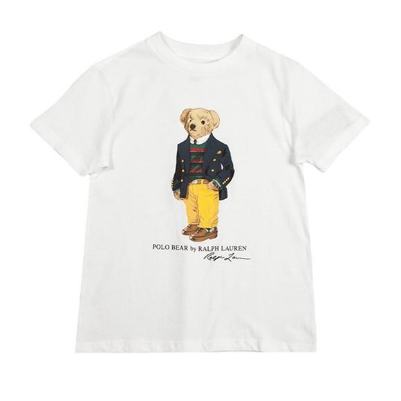 Polo Bear By Ralph Lauren Boys White Blazer Bear T-Shirt