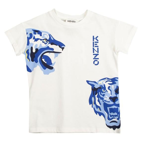 Kenzo Kids Boys Off-White K25174 Logo T Shirt
