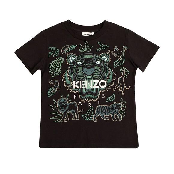 Kenzo Kids Boys Black Tiger & Friends T Shirt