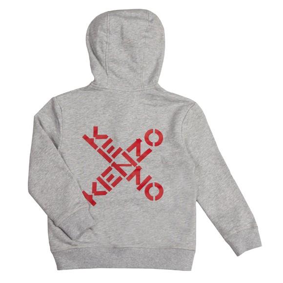 Kenzo Kids Boys Grey Cross Logo Full Zip Hoody