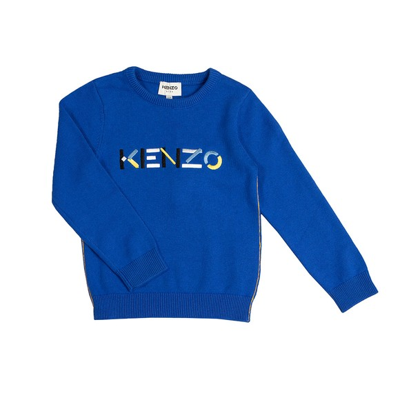 Kenzo Kids Boys Blue K25142 Logo Jumper