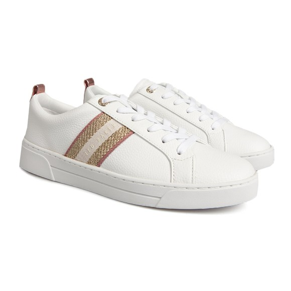 Ted Baker Womens White Baily Webbing Cupsole Trainer