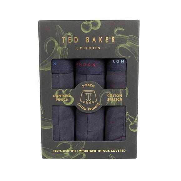 Ted Baker Mens Blue 3 Pack Trunk