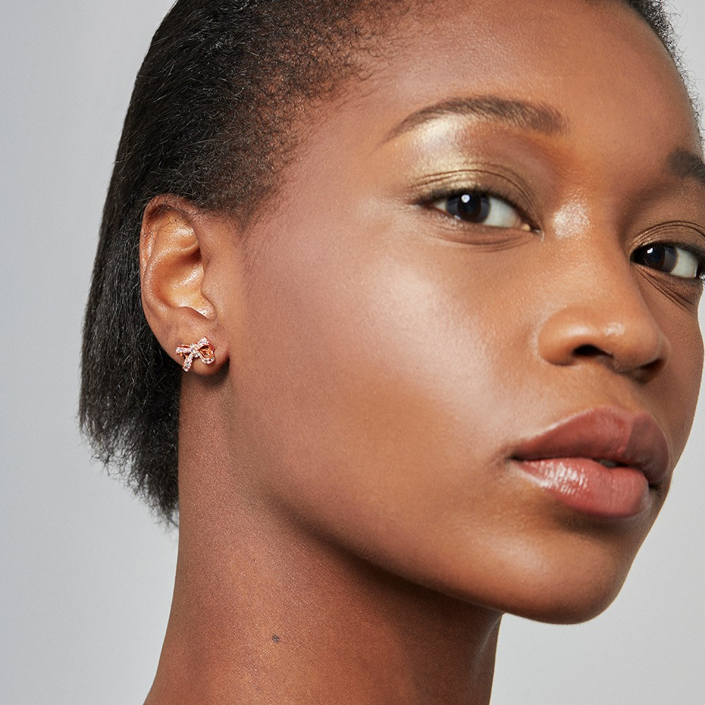 Callayy Crystal Bow Stud Earring main image