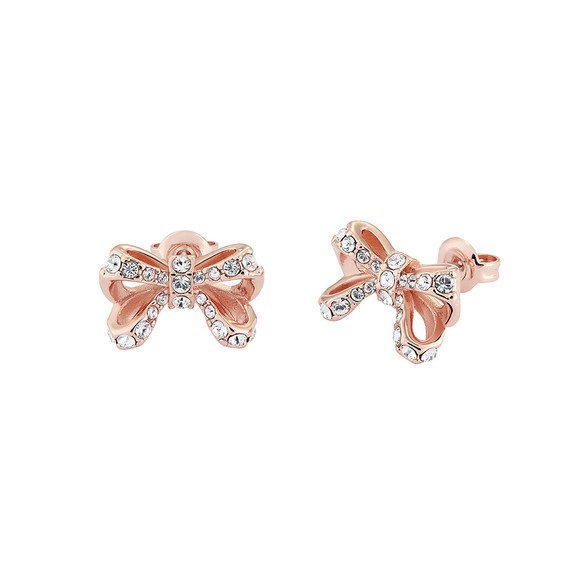 Ted Baker Womens Pink Callayy Crystal Bow Stud Earring main image