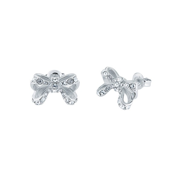 Ted Baker Womens Silver Callayy Crystal Bow Stud Earring main image