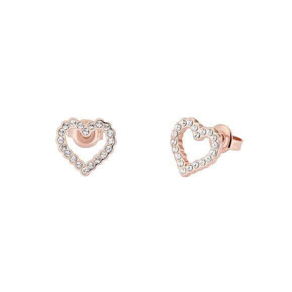 Ted Baker Womens Gold Leenah Crystal Heart Stud Earring main image