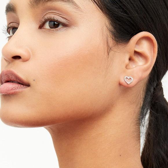 Ted Baker Womens Pink Leenah Crystal Heart Stud Earring main image