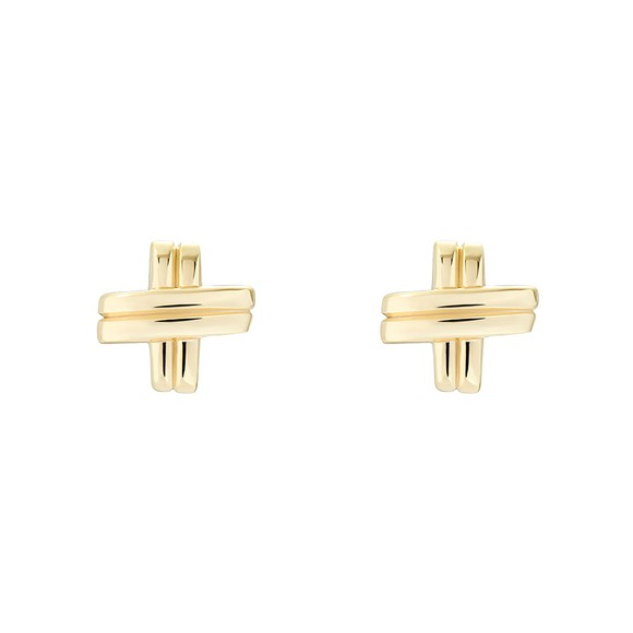 Ted Baker Womens Gold Bomwie Nautical Knot Stud Earring main image