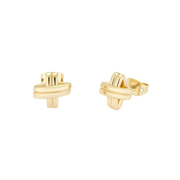 Ted Baker Womens Gold Bomwie Nautical Knot Stud Earring