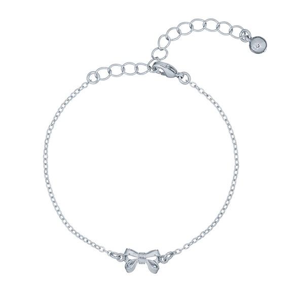 Ted Baker Womens Silver Parsa Bow Bracelet