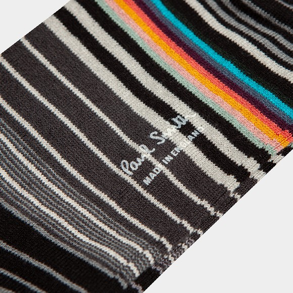 Paul Smith Mens Black Tanka Stripe Sock
