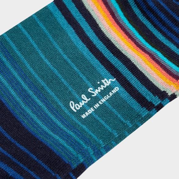 Paul Smith Mens Blue Tanka Stripe Sock